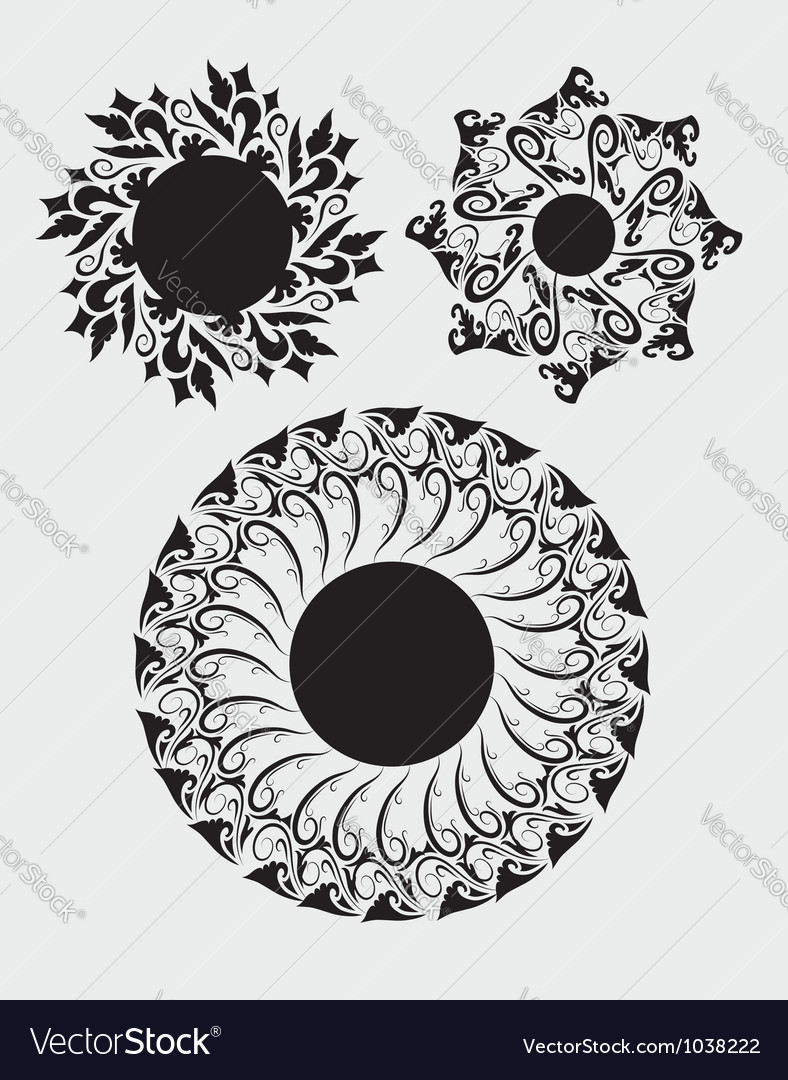 Floral element 1 vector | Price: 1 Credit (USD $1)