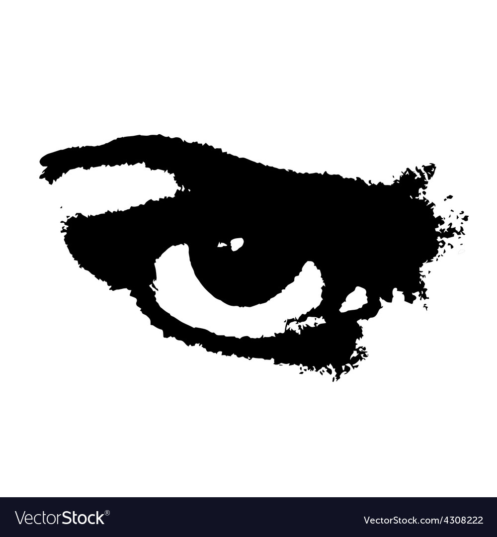 Grunge angry eye vector