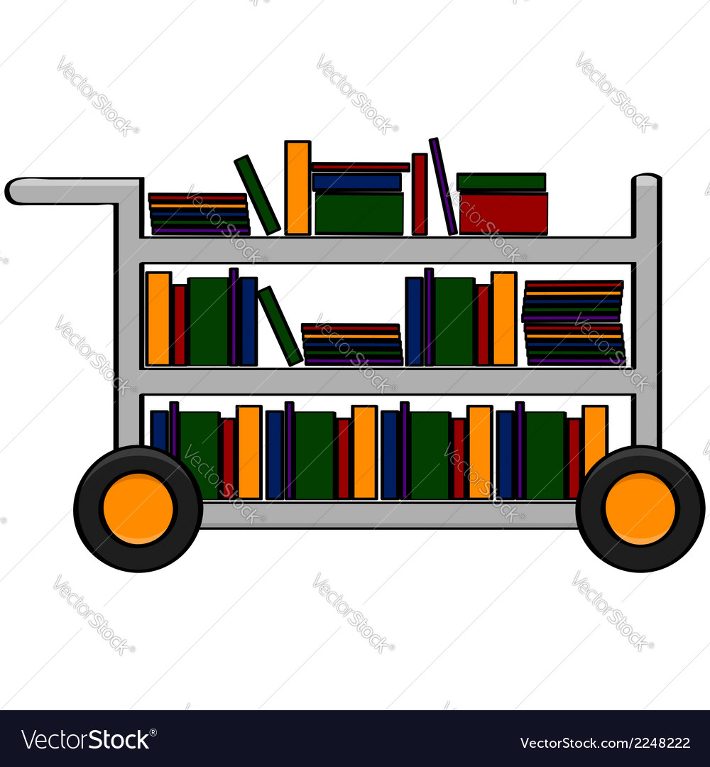 Library cart vector | Price: 1 Credit (USD $1)