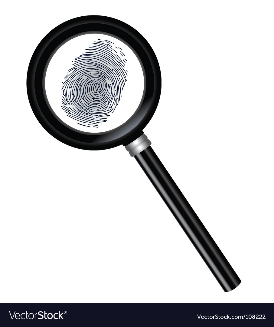 Magnifier and fingerprint vector | Price: 1 Credit (USD $1)