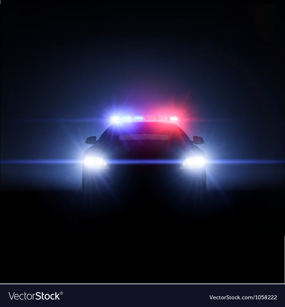 Police car with full array of lights vector | Price: 1 Credit (USD $1)