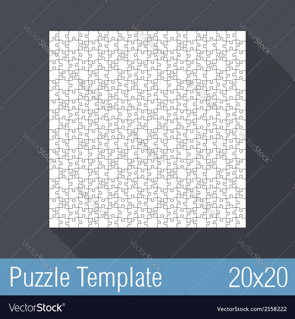 Puzzle template 20x20 vector | Price: 1 Credit (USD $1)