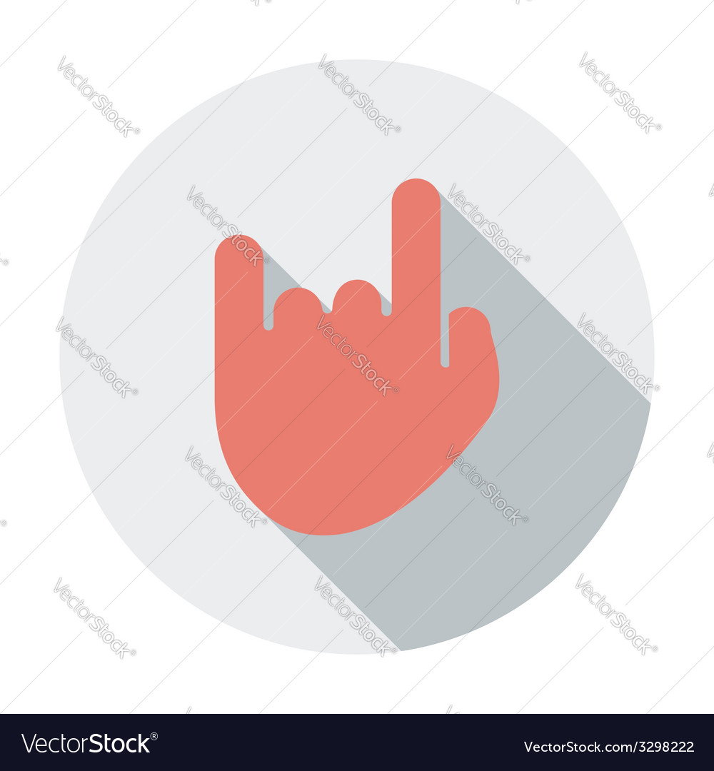 Rock and roll sign vector | Price: 1 Credit (USD $1)