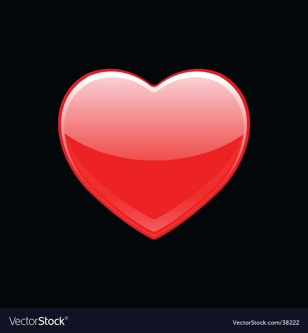 Shiny red heart vector | Price: 1 Credit (USD $1)