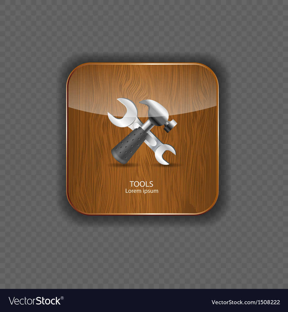 Tools wood application icons vector | Price: 1 Credit (USD $1)