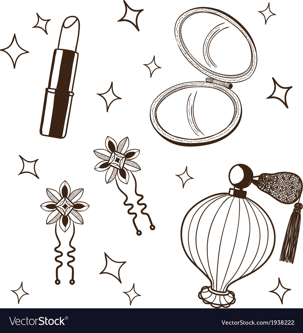Womens accessories set vector | Price: 1 Credit (USD $1)