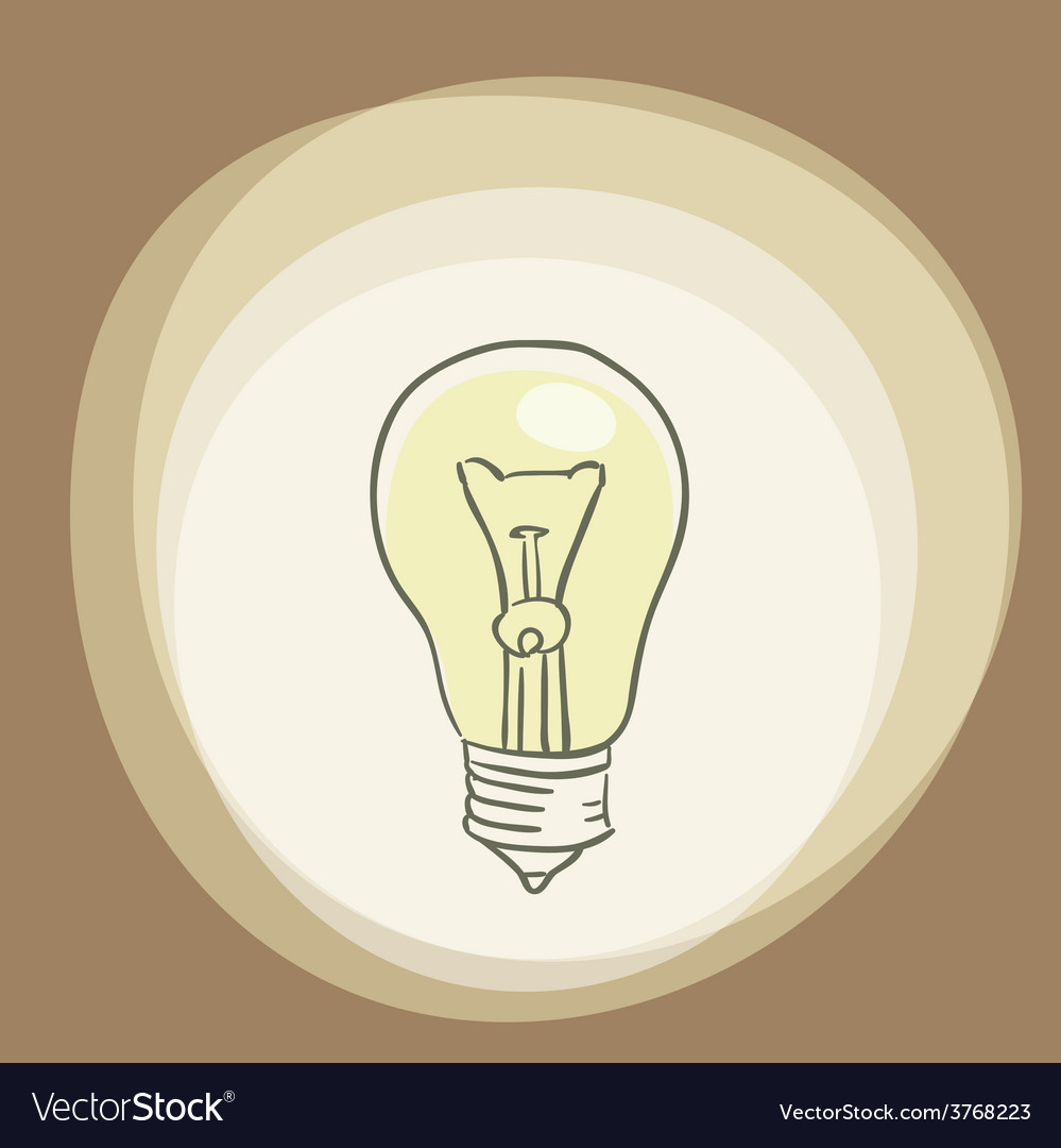 Abstract background with light bulb thinking vector | Price: 1 Credit (USD $1)