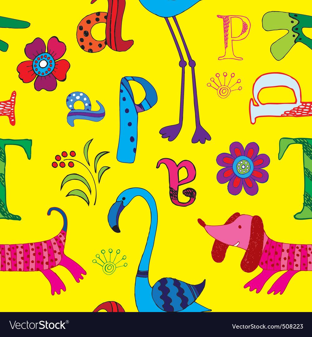 Animal and alphabet vector | Price: 1 Credit (USD $1)