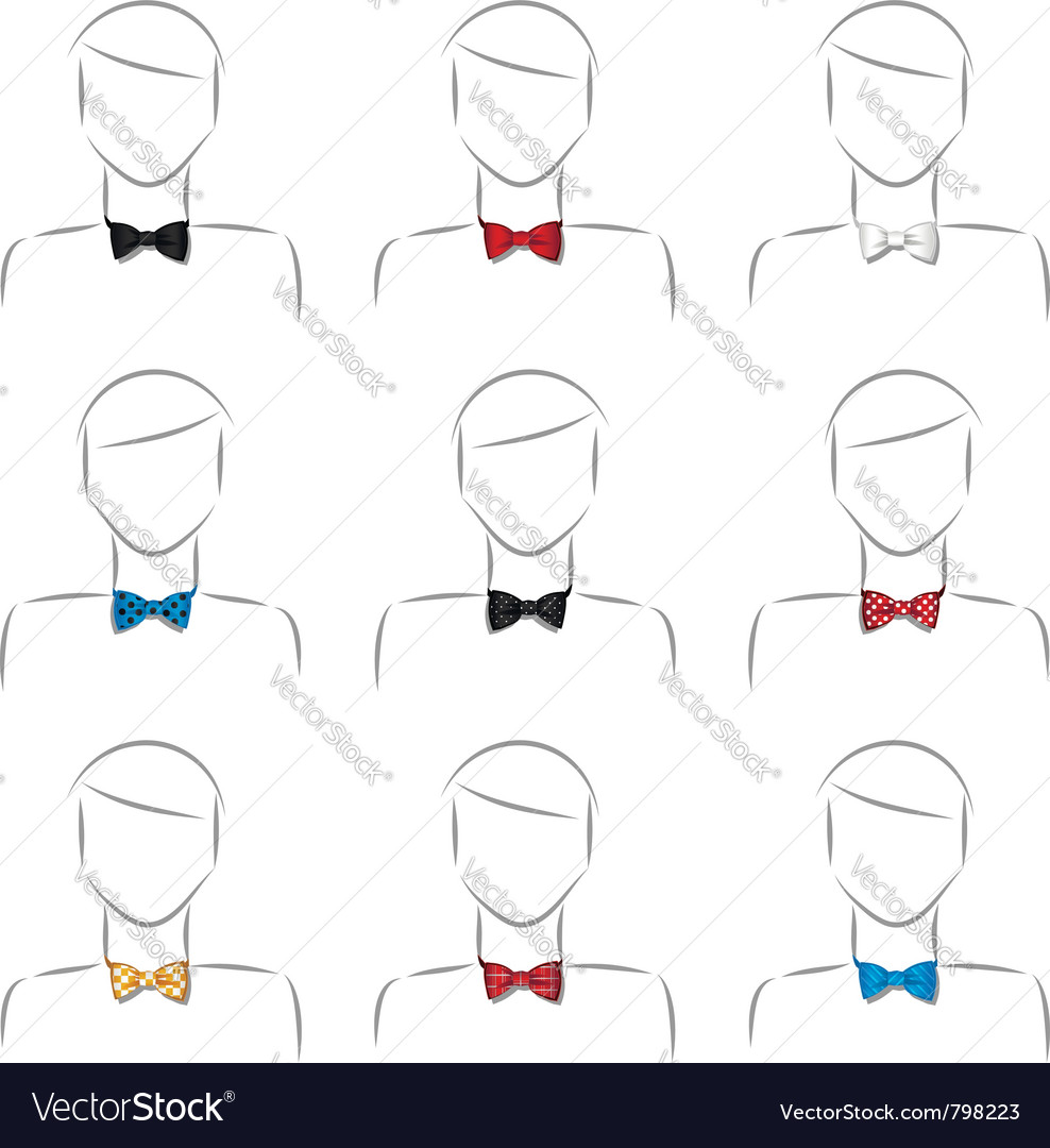 Bow tie set vector | Price: 1 Credit (USD $1)