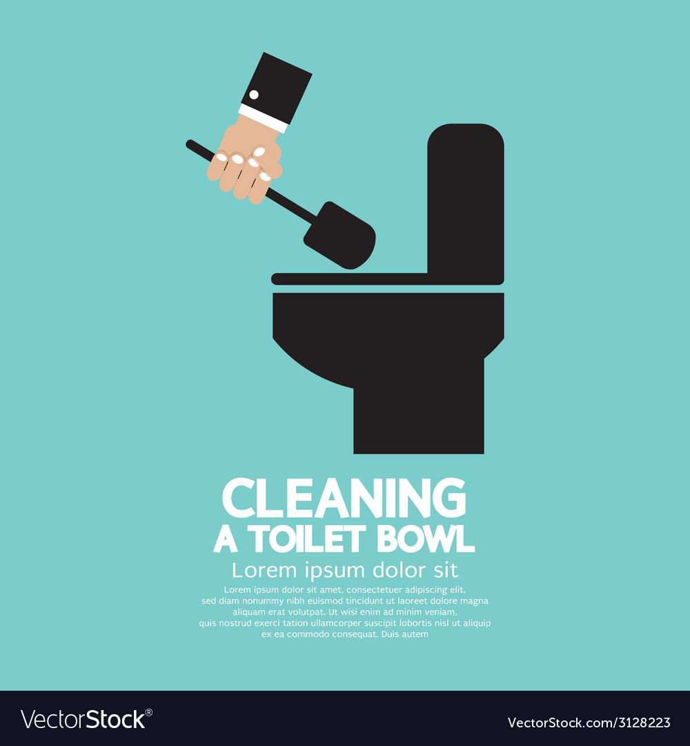 Cleaning a toilet bowl vector | Price: 1 Credit (USD $1)