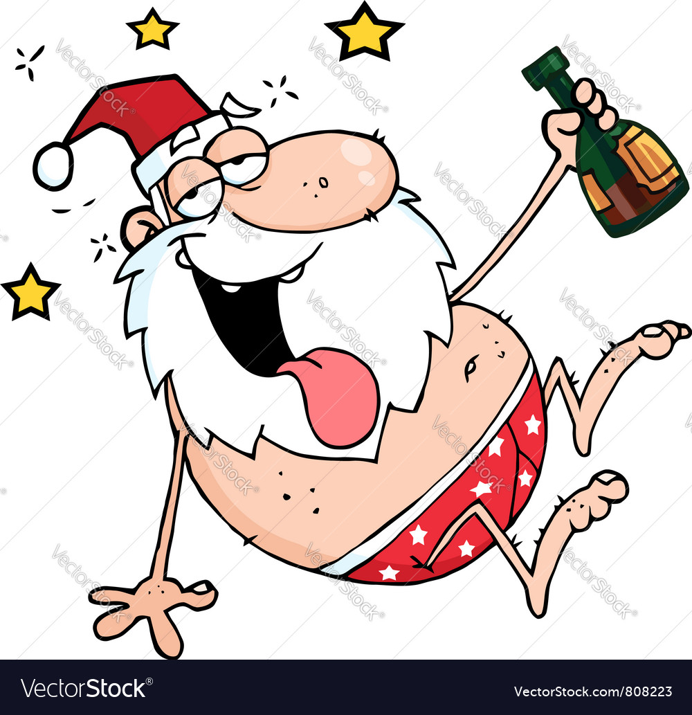 Drunk santa vector | Price: 1 Credit (USD $1)
