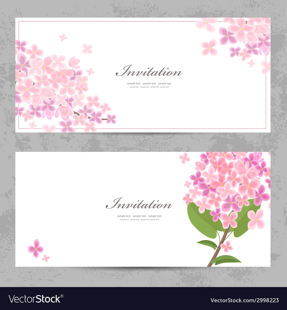 Invitation cards with beautiful flowers for your vector | Price: 1 Credit (USD $1)