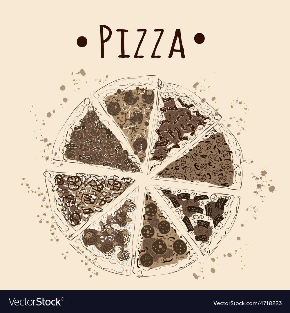 Pizza sepia vector   Price: 1 Credit (USD $1)