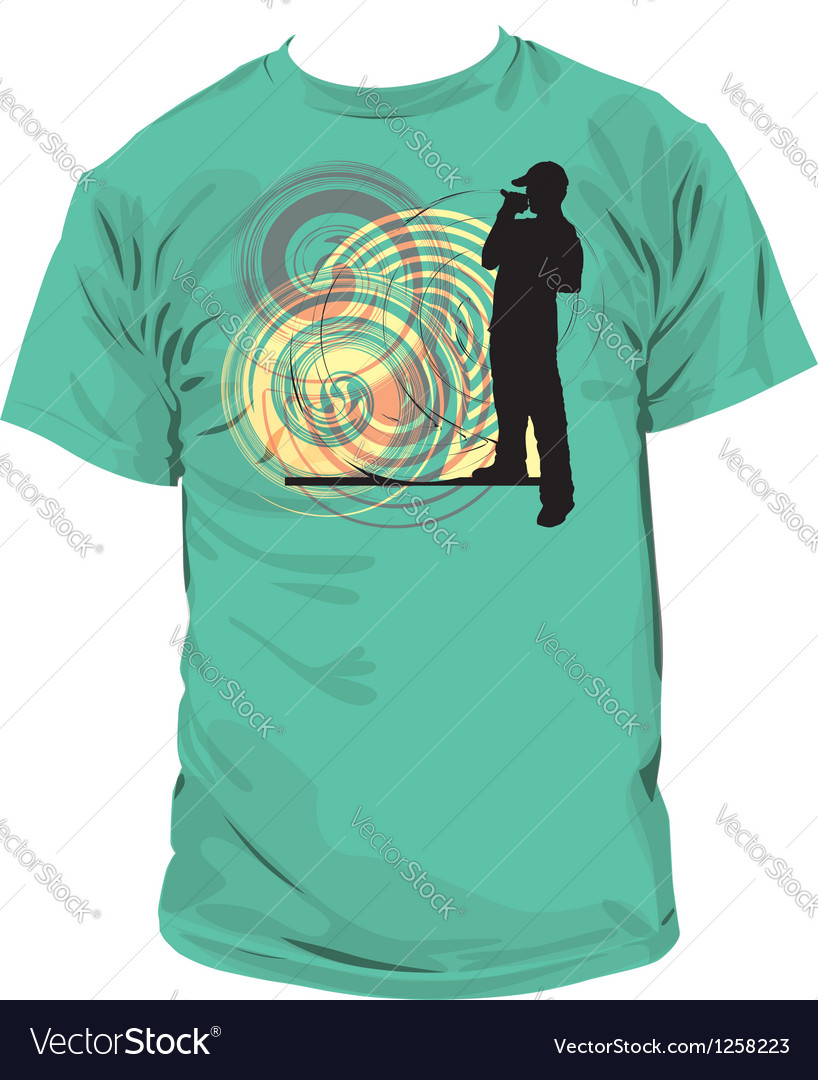 Rap t-shirt vector | Price: 1 Credit (USD $1)
