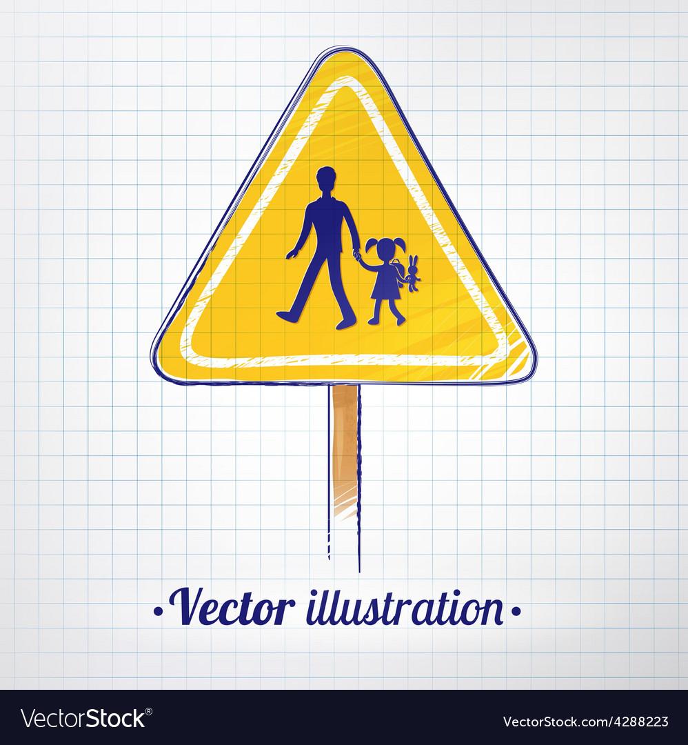 School warning sign vector   Price: 1 Credit (USD $1)