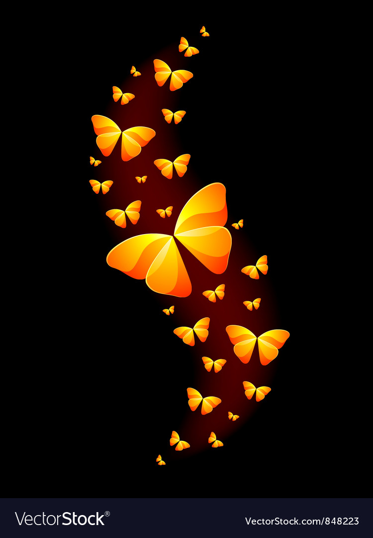 Shiny butterflies vector | Price: 1 Credit (USD $1)