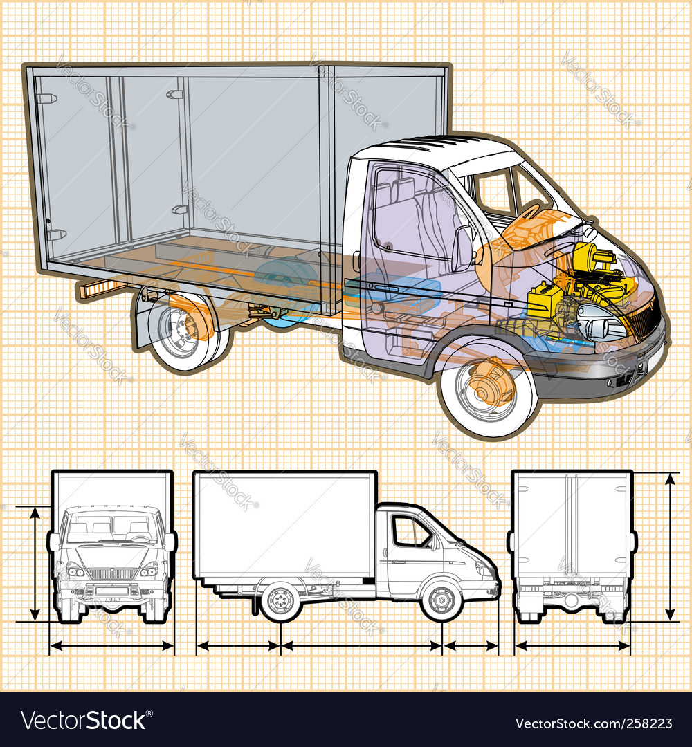 Truck vector | Price: 3 Credit (USD $3)