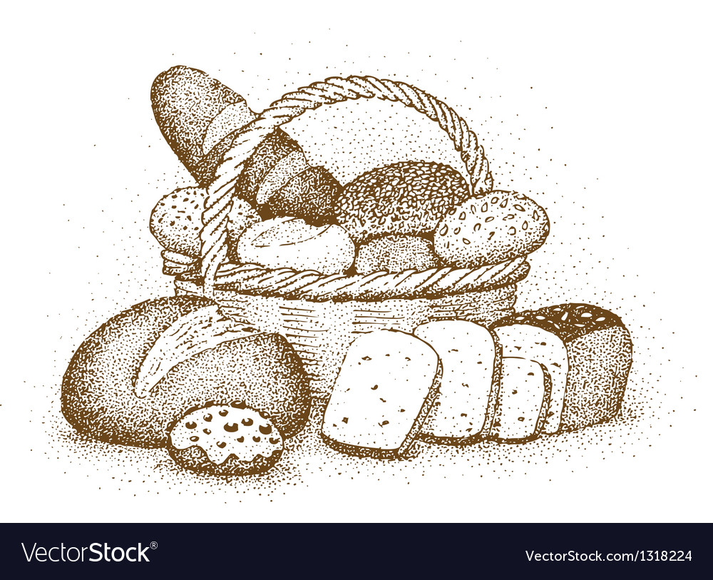 Bakery products drawn by hand vector | Price: 1 Credit (USD $1)