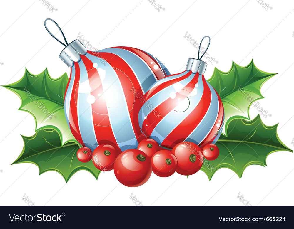 Christmas decoration of ball vector | Price: 3 Credit (USD $3)