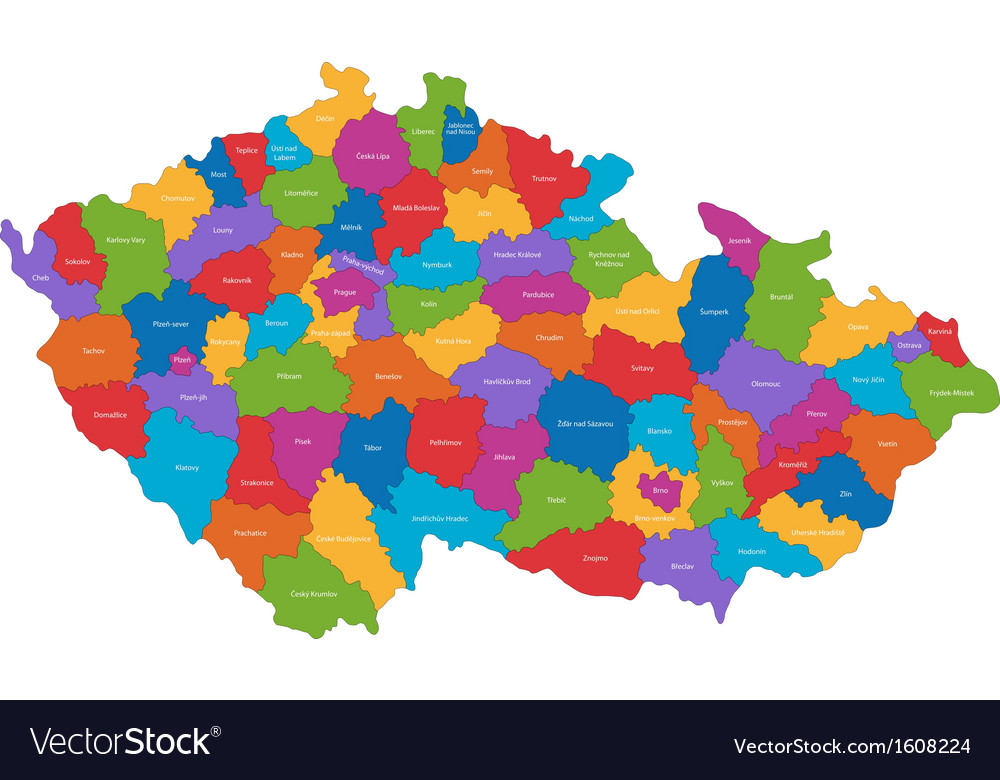 Czech republic map vector | Price: 1 Credit (USD $1)