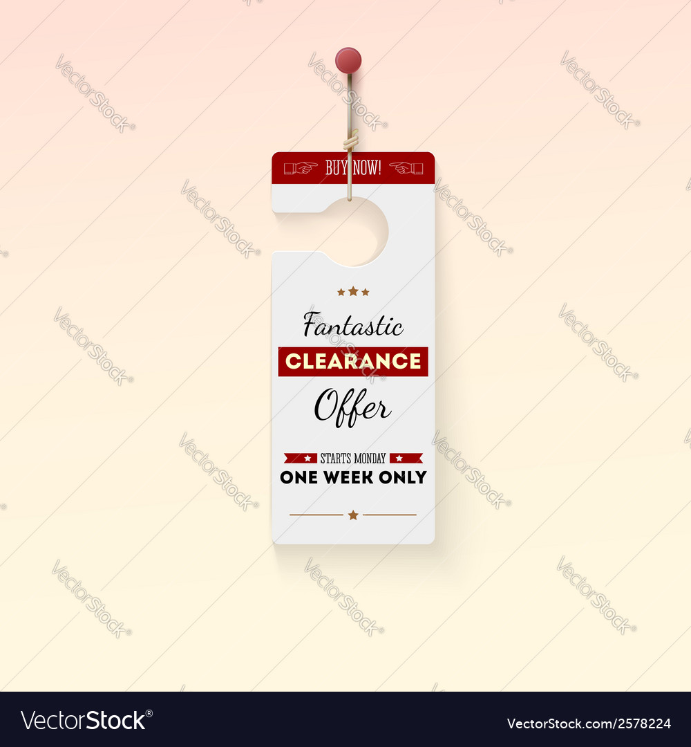 Fantastic clearance offer tag vector | Price: 1 Credit (USD $1)