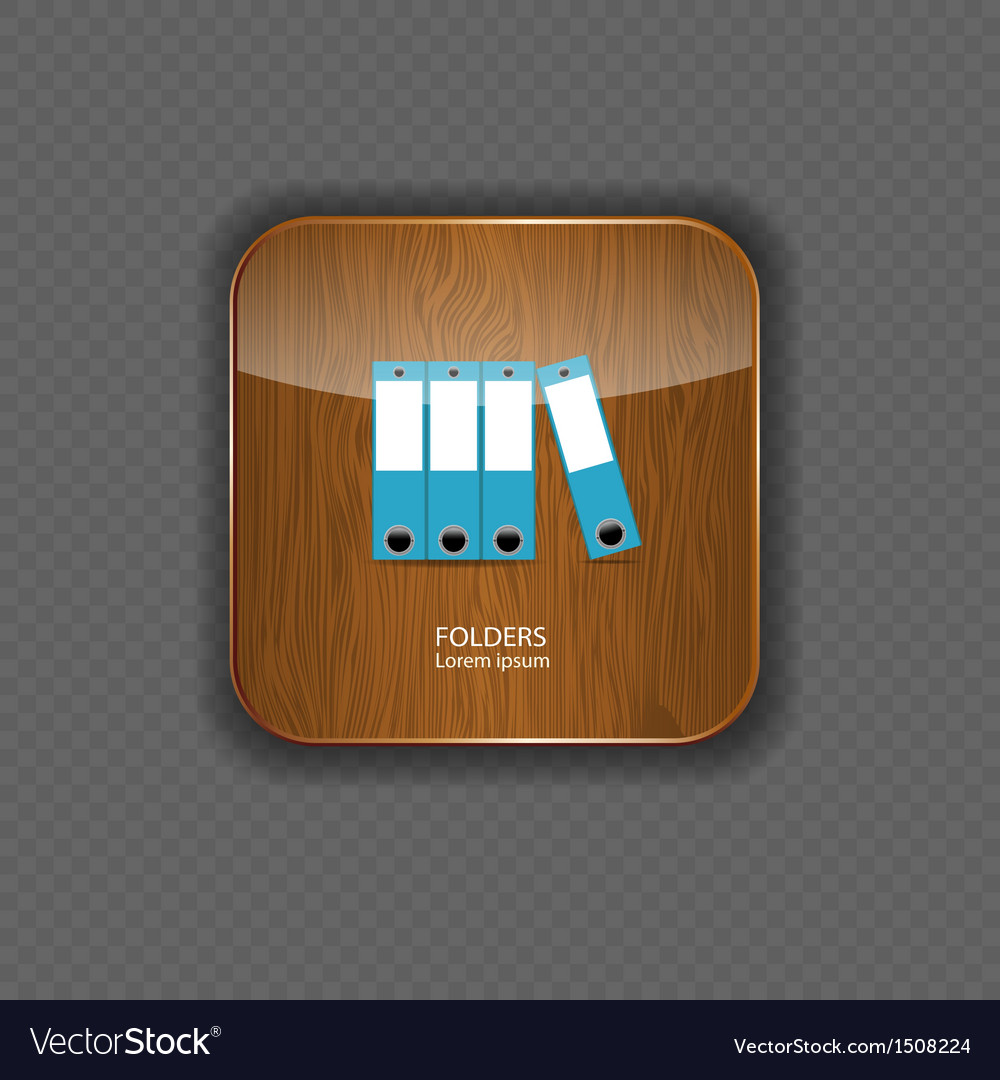 Folders wood application icons vector | Price: 1 Credit (USD $1)