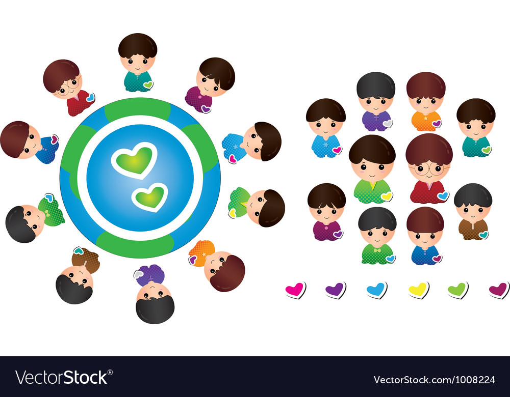 International children vector | Price: 1 Credit (USD $1)