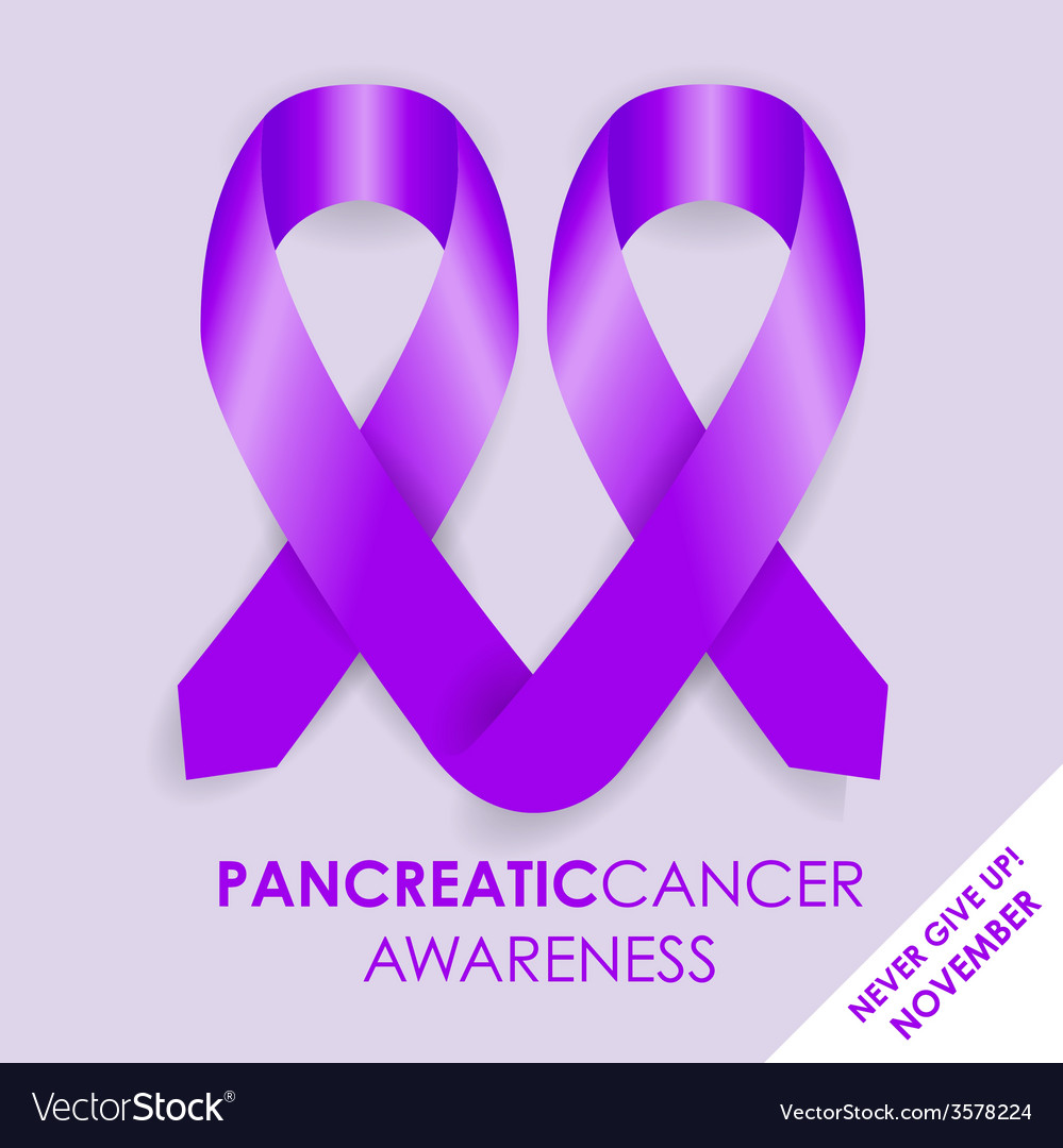 Pancreatic cancer ribbon vector | Price: 1 Credit (USD $1)