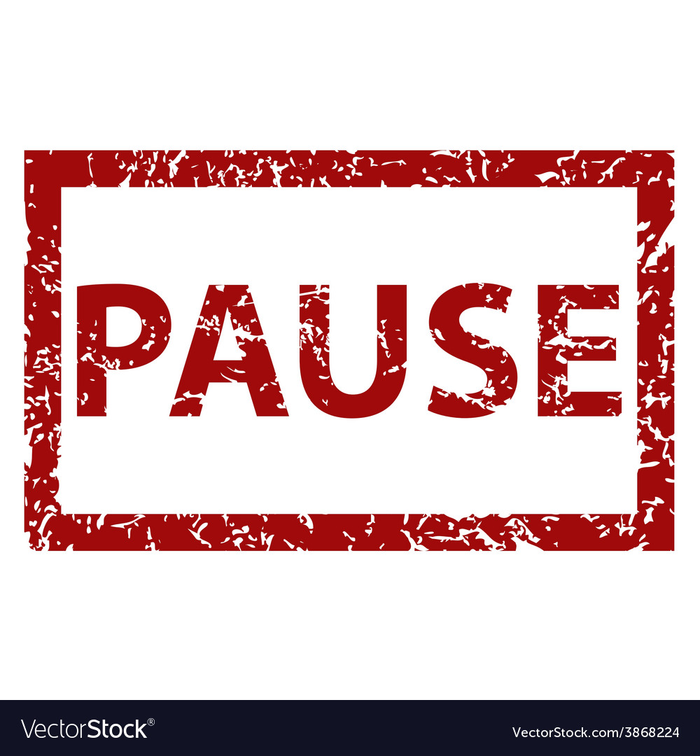 Pause rubber stamp vector | Price: 1 Credit (USD $1)