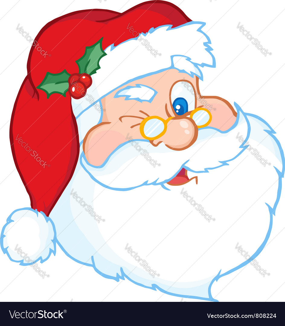 Santa winking vector | Price: 1 Credit (USD $1)