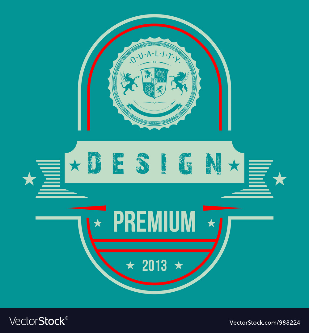Vintage web design vector | Price: 1 Credit (USD $1)