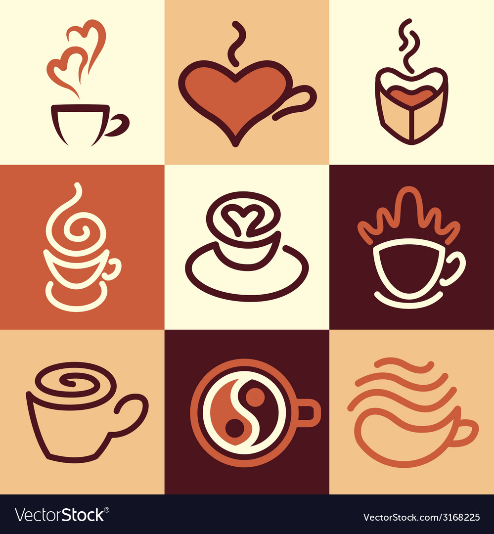 Caffee logo icons vector | Price: 1 Credit (USD $1)