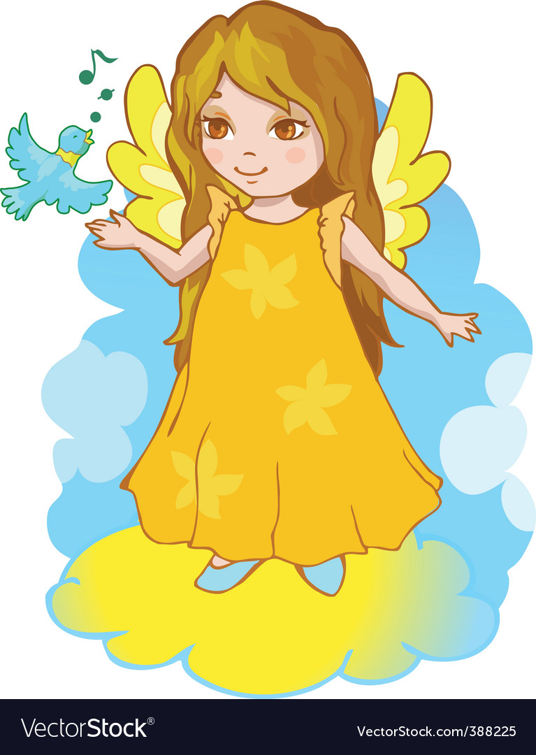 Cartoon angel vector | Price: 1 Credit (USD $1)