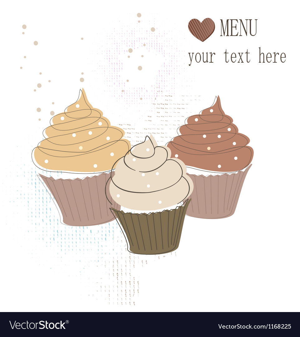 Cupcakes card vector | Price: 1 Credit (USD $1)