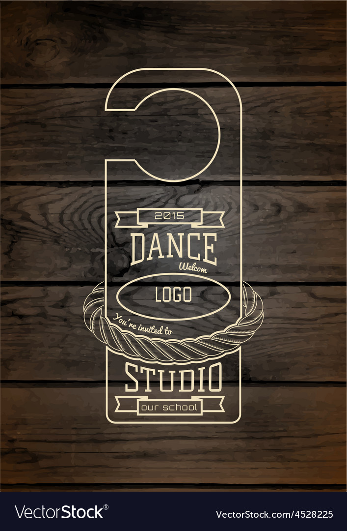 Dance studio badges logos and labels for any use vector | Price: 1 Credit (USD $1)
