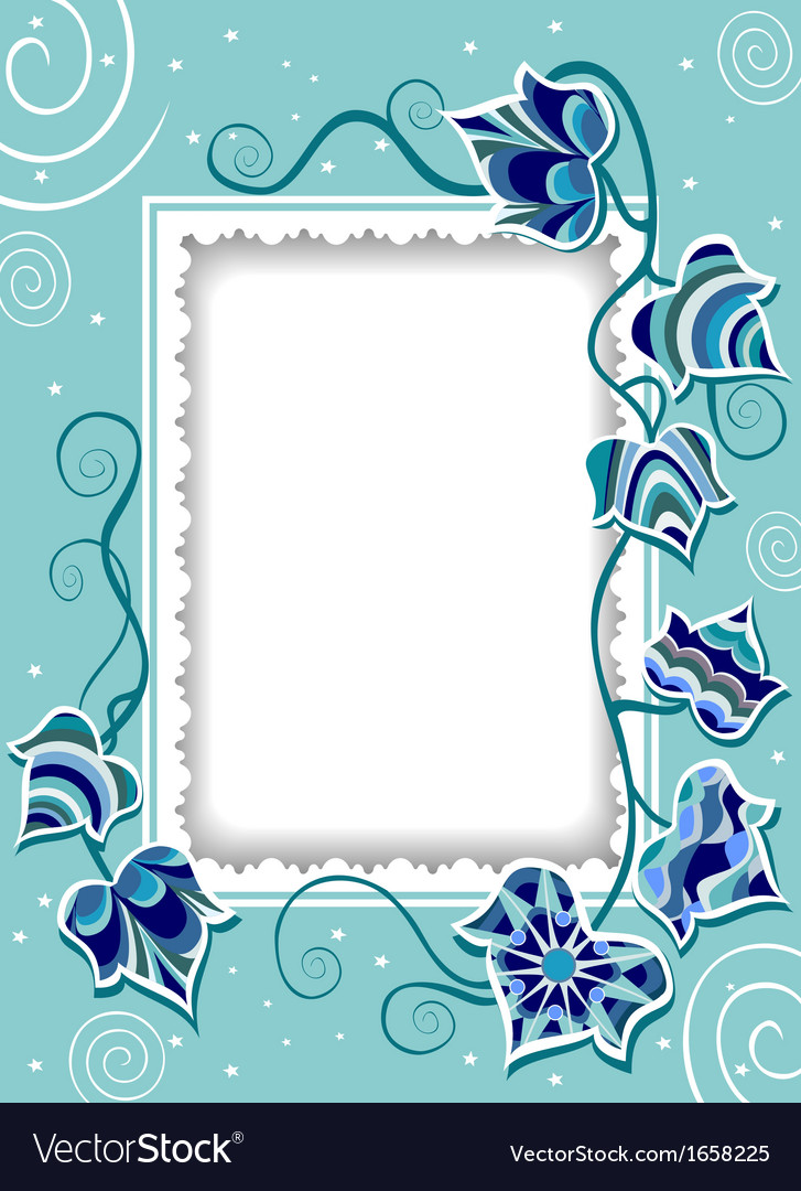 Decorative card with fancy ivy vector | Price: 1 Credit (USD $1)