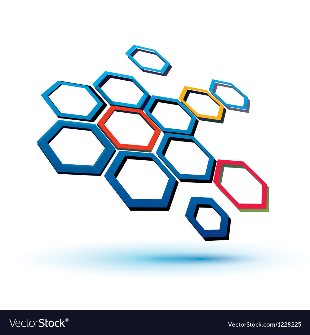 Hexagonal abstract icon vector | Price: 1 Credit (USD $1)