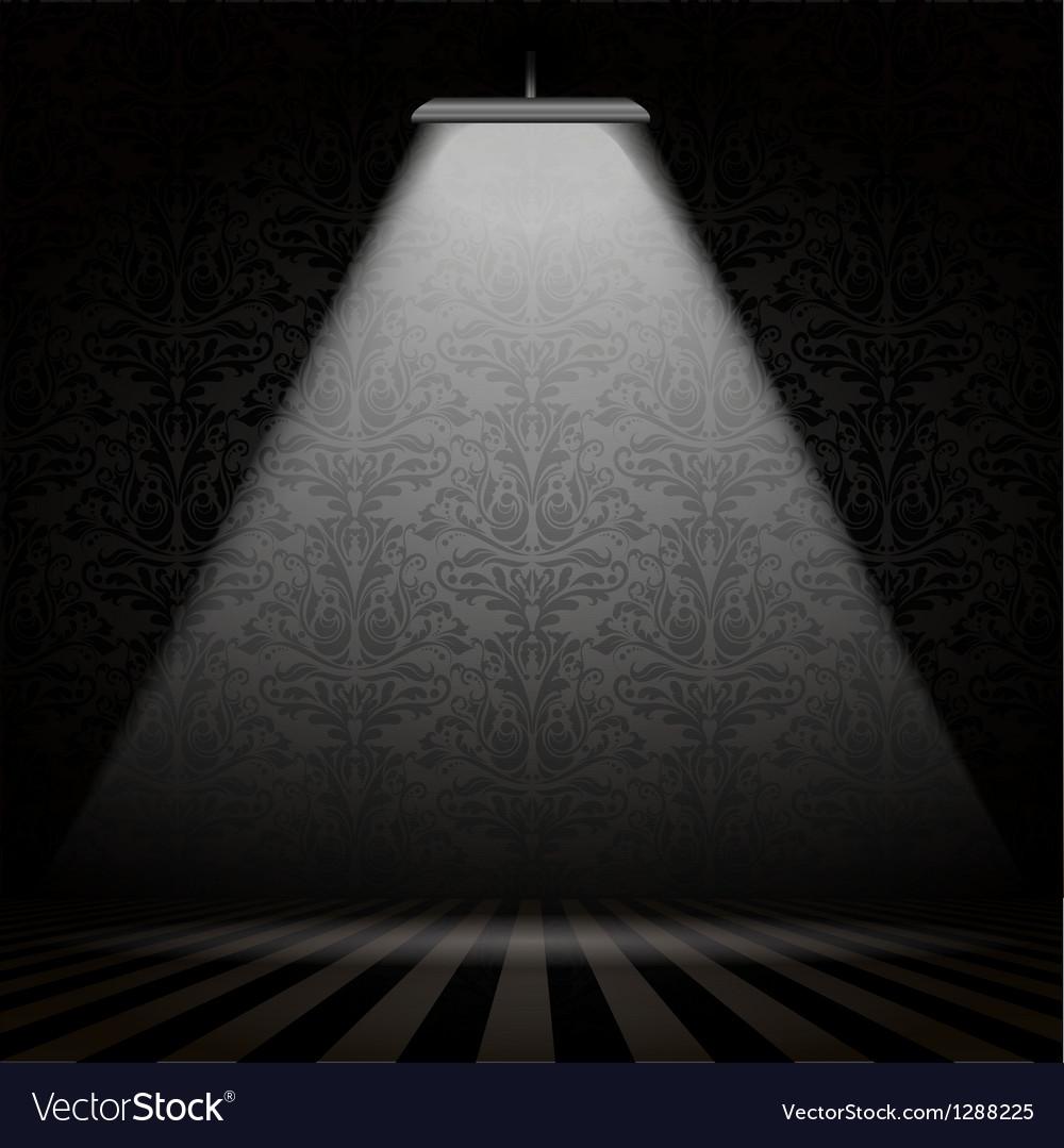 Interior with spotlight vector