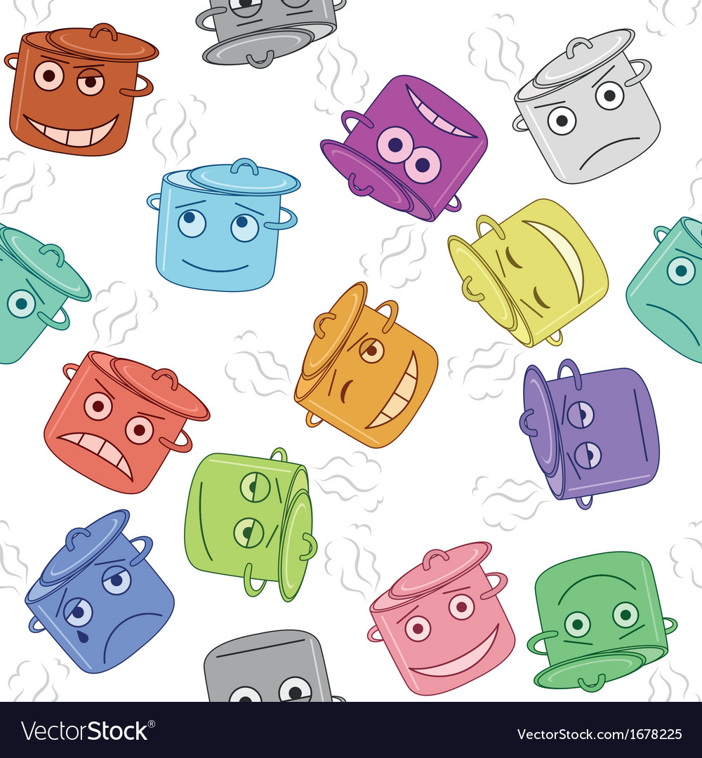 Pan smilies seamless vector | Price: 1 Credit (USD $1)