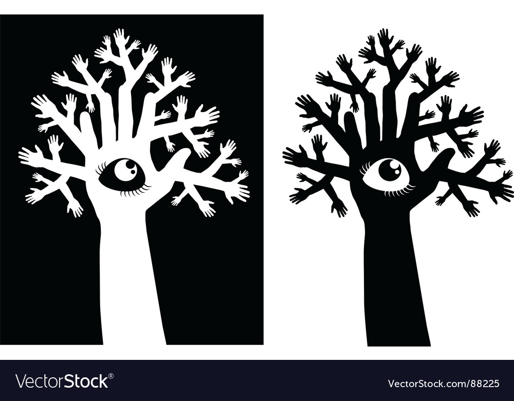 Tree and eye vector | Price: 1 Credit (USD $1)
