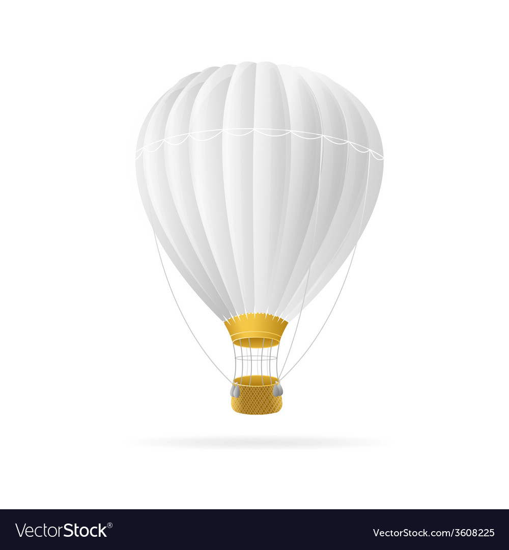 White hot air ballon isolated vector | Price: 1 Credit (USD $1)