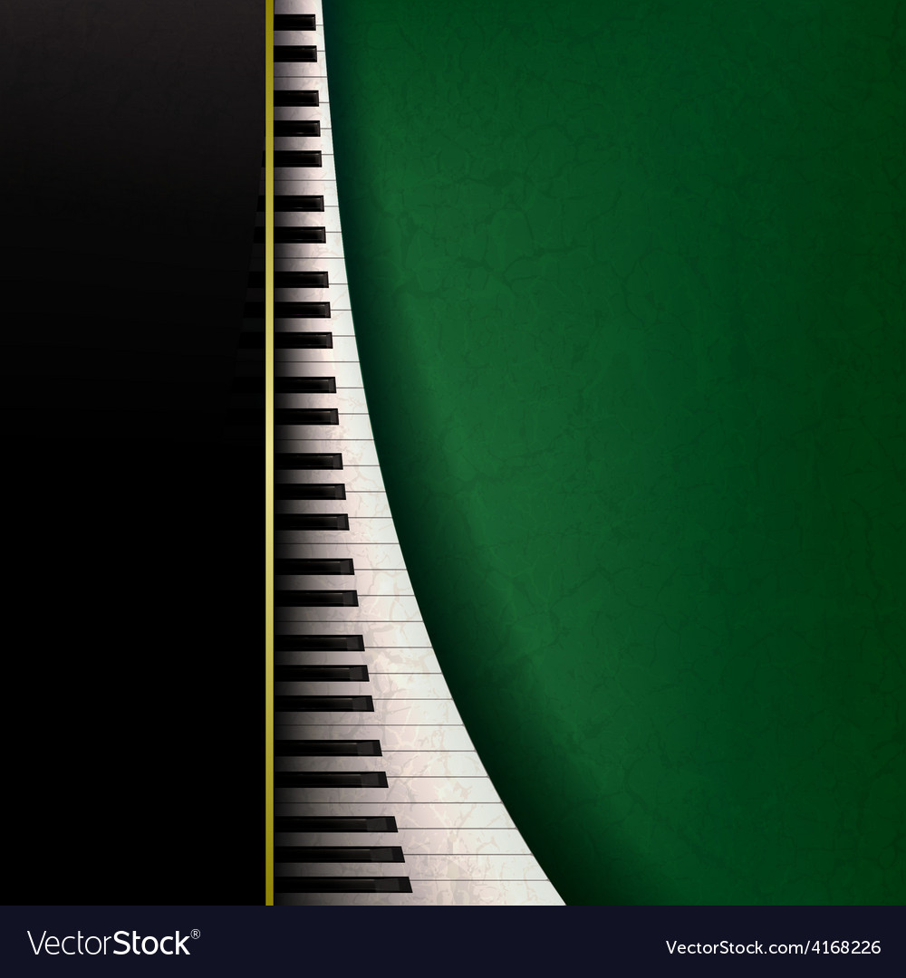Abstract grunge music background with piano keys vector | Price: 3 Credit (USD $3)