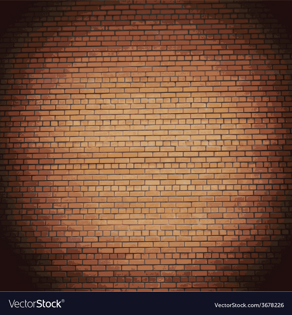 Background red brick wall eps10 vector | Price: 1 Credit (USD $1)