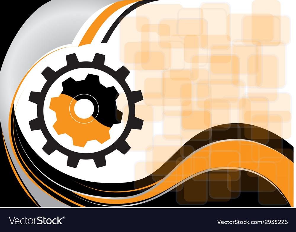 Background with cogwheel vector | Price: 1 Credit (USD $1)