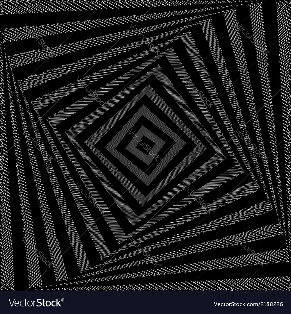 Design monochrome twirl movement square background vector | Price: 1 Credit (USD $1)