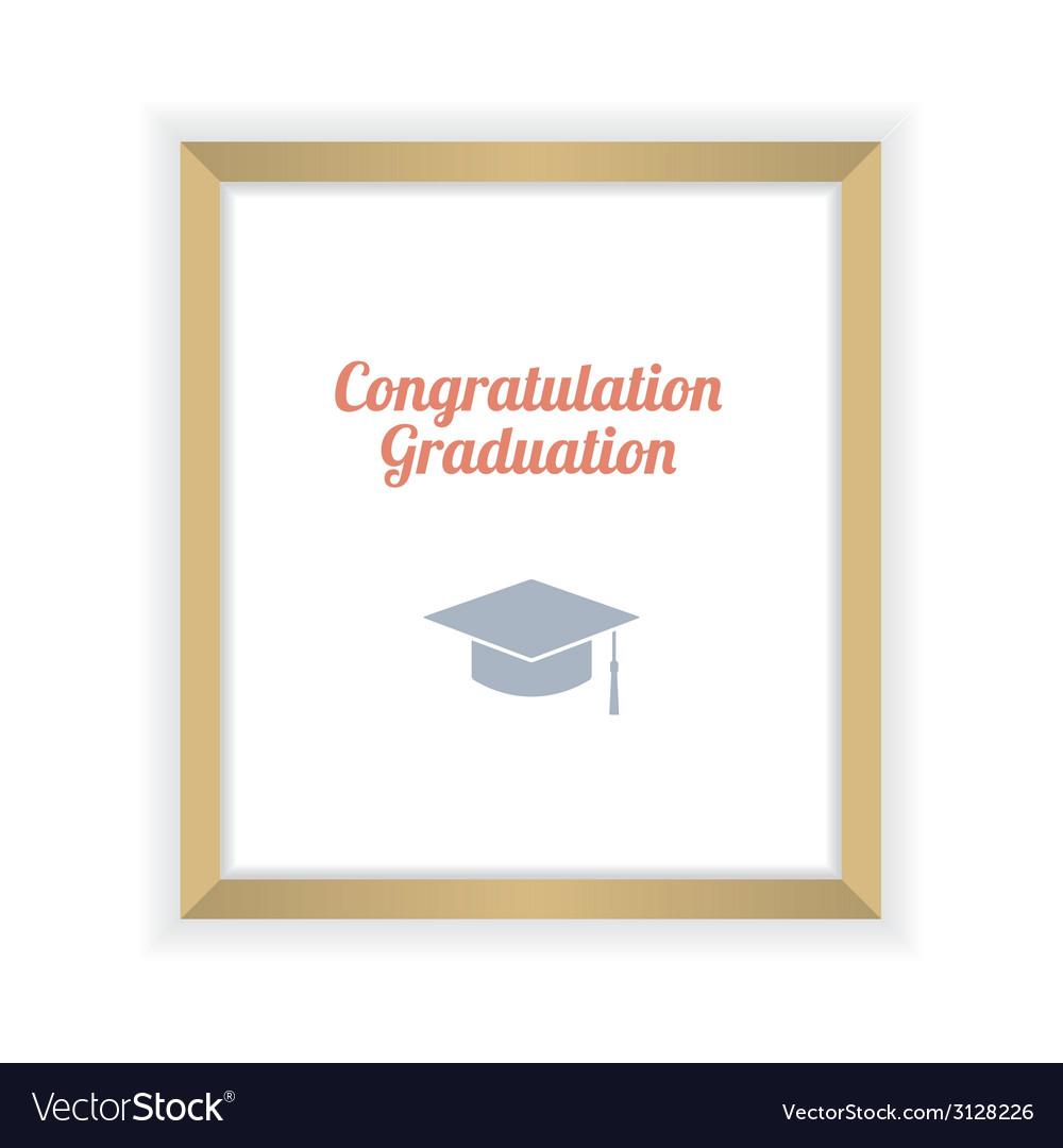 Flat design graduation celebration vector | Price: 1 Credit (USD $1)