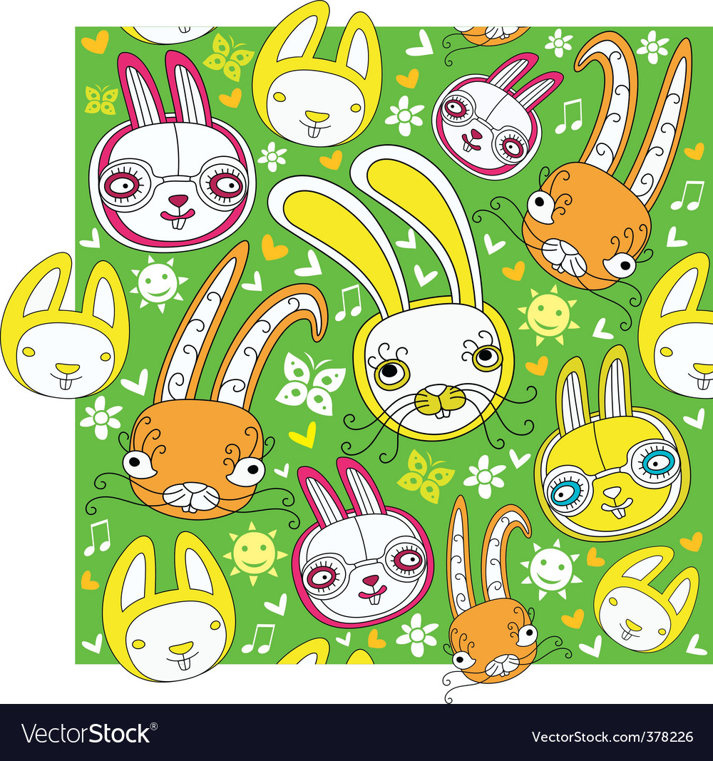 Rabbit background vector | Price: 3 Credit (USD $3)