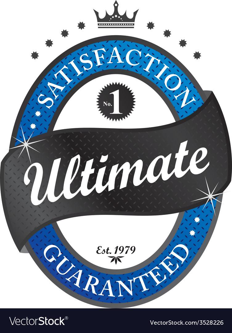 Retro label sticker vector | Price: 1 Credit (USD $1)