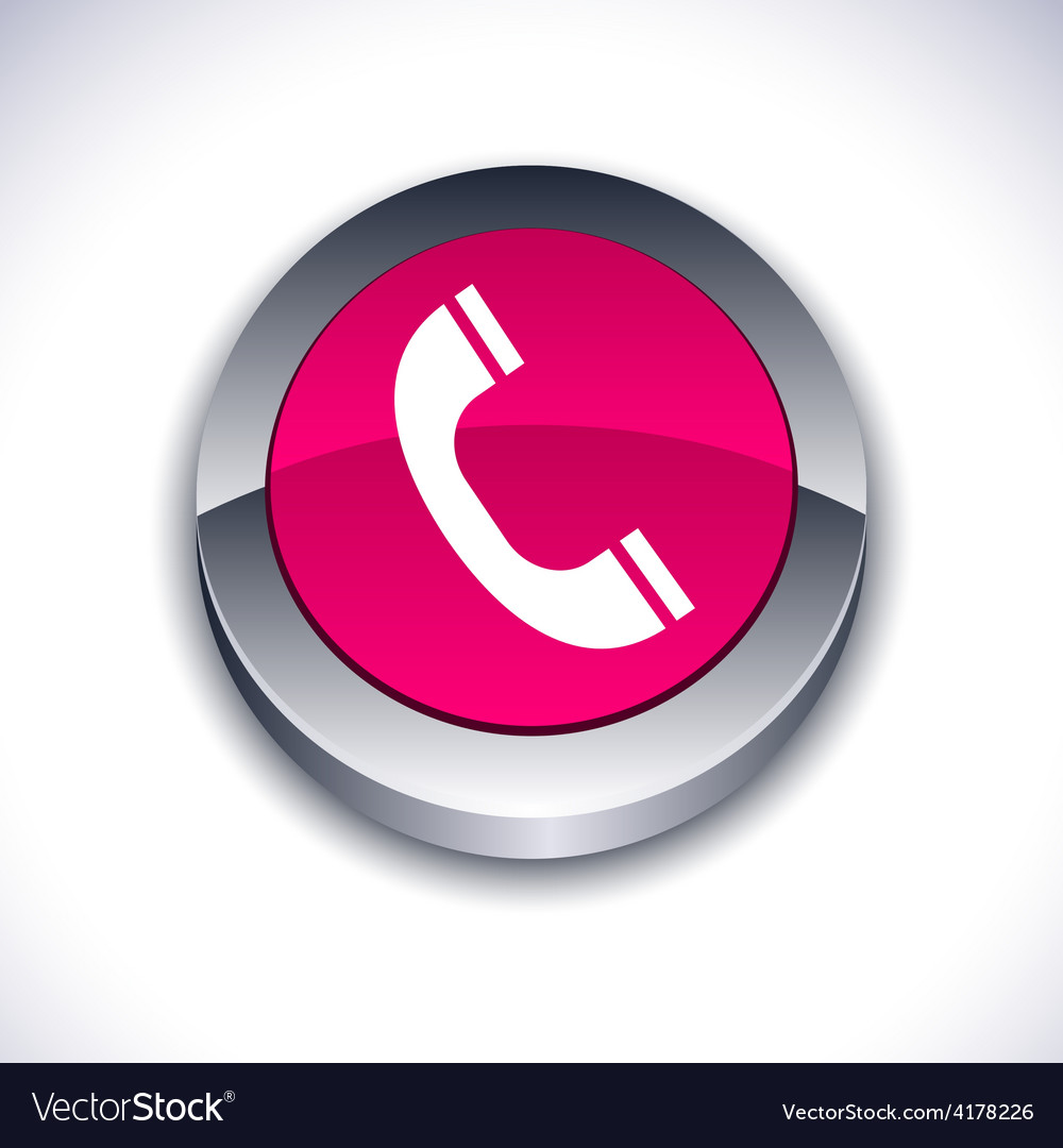 Telephone 3d button vector | Price: 1 Credit (USD $1)