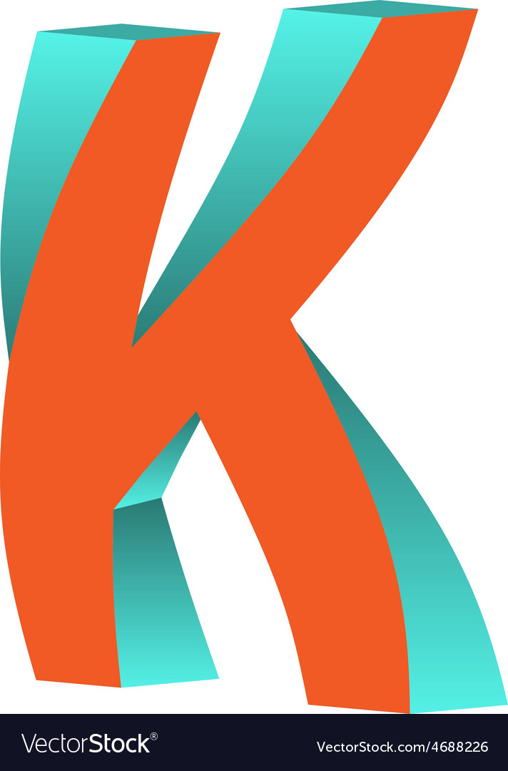 Twisted letter k logo icon design template element vector | Price: 1 Credit (USD $1)